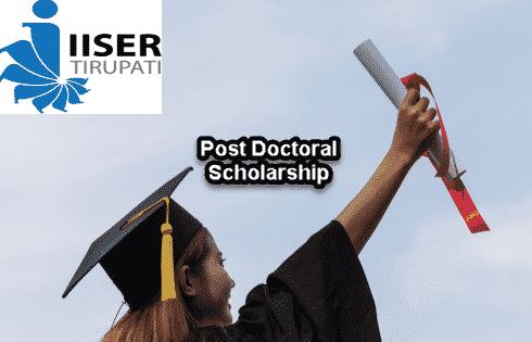 Phd Post Doctoral Research Fellowship @ IISER, Tirupati