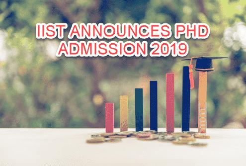 Chemistry Phd Admission Notification 2019 @ IIST