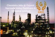 Chemistry Jobs @ Gujarat Narmada Valley Fertilizers & Chemical Limited