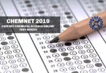 CSIR NET Chemical Science Test Series - CHEMNET 2019