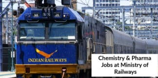 Govt Jobs: Ministry Of Railways Hiring Chemistry & Pharma Candidates