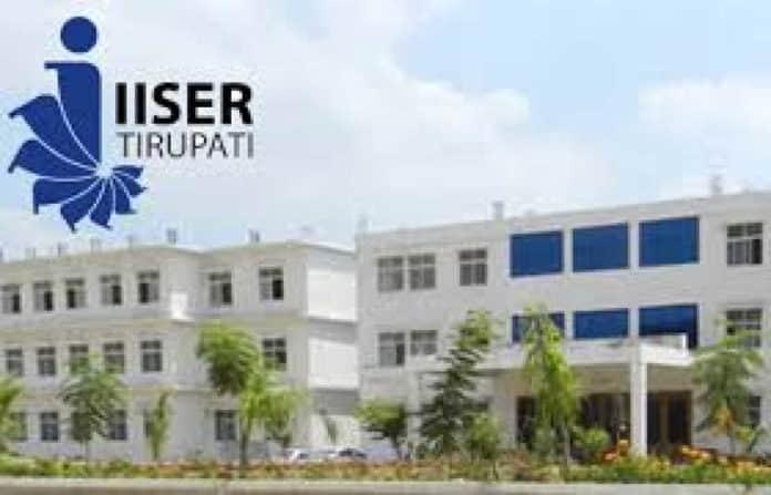 IISER TIRUPATI ADMISSION TO PHD PROGRAM – August 2019