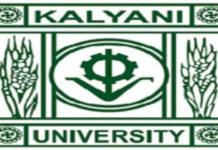 Chemistry Junior Research Fellow Post @ University of Kalyani