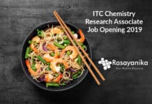 ITC Chemistry Research Associate Job Opening 2019