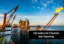 Oil India Chemist Job Opening - Msc Chemistry Job Opening