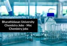 Bharathidasan University Chemistry Jobs - Msc Chemistry jobs