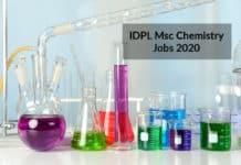 IDPL Msc Chemistry Jobs - Lab Executive Post Vacancy