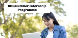 CRG Summer Internship Programme 2020 - Chemistry & Pharma