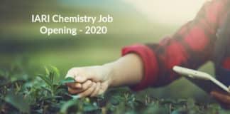 IARI Chemistry Job Opening - Application Details