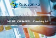 NIT TIRUCHIRAPPALLI Chemistry Job Opening - JRF Post