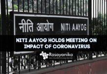 Niti Aayog Meeting on Coronavirus