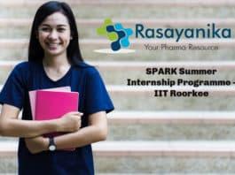 SPARK Summer Internship Programme - IIT Roorkee With Stipned 2500/per week