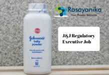 J&J Regulatory Executive Job Vacancy - Pharma & Chemistry