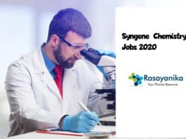 Syngene Chemistry Purchase Executive Post Vacancy - Apply