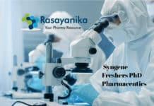 Add subSyngene Freshers PhD Pharmaceutics Job Vacancy - Apply Online