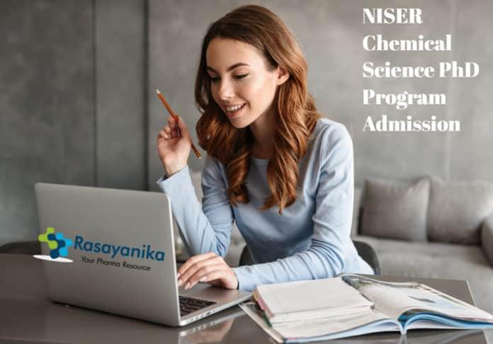 NISER Chemical Science PhD Program Admission 2020-2021