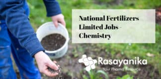 National Fertilizers Limited Jobs - Chemistry Jobs Salary Up to 6 Lakh p.a