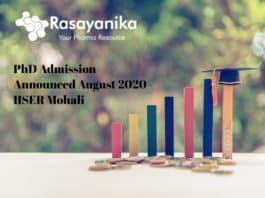 IISER Mohali PhD Admission August 2020 Announced - Application Details