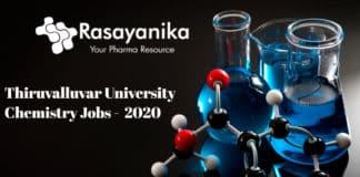 Thiruvalluvar University Chemistry Jobs - SRF Post Vacancy