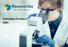 Sartorius Freshers Jobs - Chemistry Scientist/Technician Post Vacancy