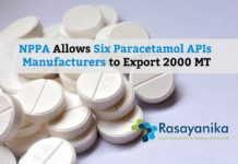 Exporting Paracetamol APIs Allowed