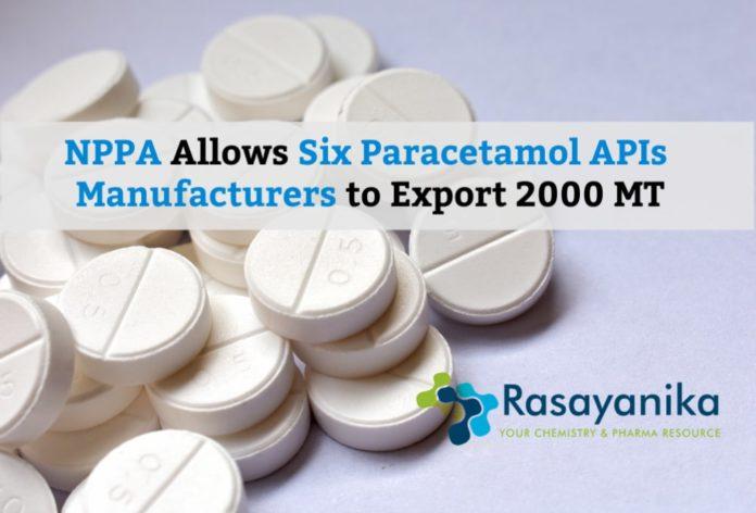 Exporting Paracetamol APIs Allowed