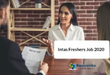 Intas Freshers Job 2020 - Pharma Officer Post Vacancy