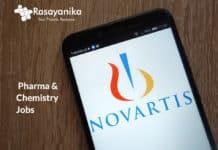 Novartis DRC Associate Vacancy - Pharma & Chemistry Jobs