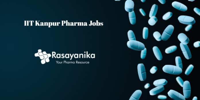 IIT Kanpur Pharma Jobs - Junior Research Fellow Post