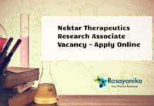 Nektar Therapeutics Research Associate Vacancy - Apply Online