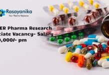 PGIMER Pharma Research Associate Vacancy- Salary Rs 50,000/- pm