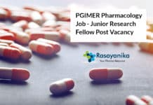 PGIMER Pharmacology Job - Junior Research Fellow Post Vacancy