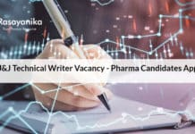 J&J Technical Writer Vacancy - Pharma Candidates Apply
