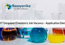 NIT Durgapur Chemistry Job Vacancy - Application Details