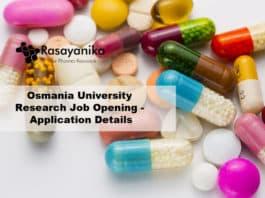 Osmania University Research Job Opening - Application Details
