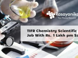 TIFR Chemistry Scientific Officer Job With Rs. 1 Lakh pm Salary