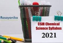 CSIR Chemical Science Syllabus